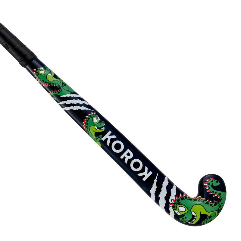 Stick de hockey sur gazon enfant bois FH100 Dino