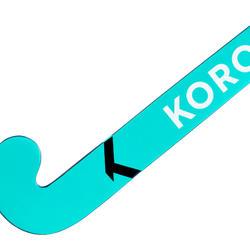 Stick de hockey adulte occasionnel bois/fibre verre FH100 bleu turquoise