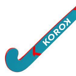 Stick de hockey enfant débutant/adulte occasionnel bois/FB FH100 rouge