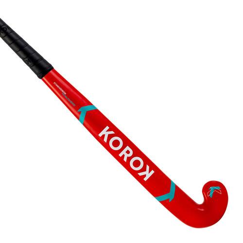 Stick de hockey enfant débutant occasionnel bois/FB FH150 rouge