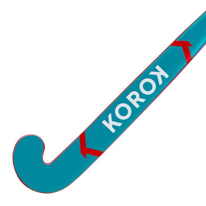 Stick de hockey enfant débutant/adulte occasionnel bois/FB FH100 rouge