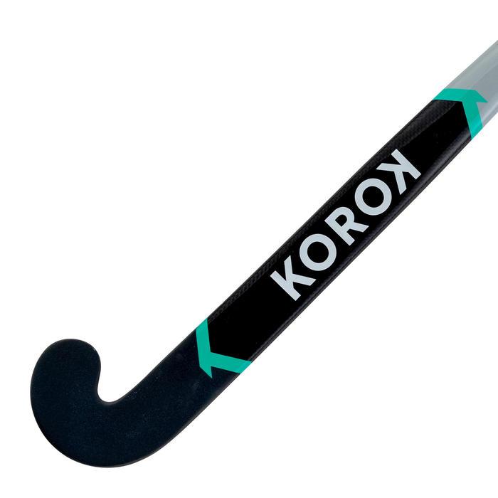 Stick de hockey sur gazon adulte confirmé mid bow 30% carbone FH530 gris turquoi