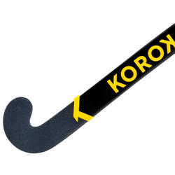 Stick de hockey/gazon adulte confirmé low bow 60% carbone FH550 blanc jaune