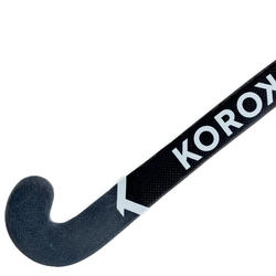 Stick de hockey sur gazon adulte confirmé mid bow 60% carbone FH560 blanc gris