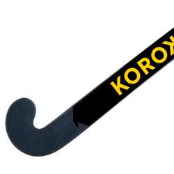 Stick de hockey sur gazon adulte expert low bow 95% carbone FH995 noir orange