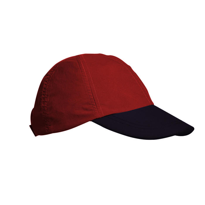Children's hiking cap MH100 - burgundy