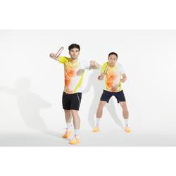 男款極致舒適羽球鞋BS 590軍藍及橘色配色