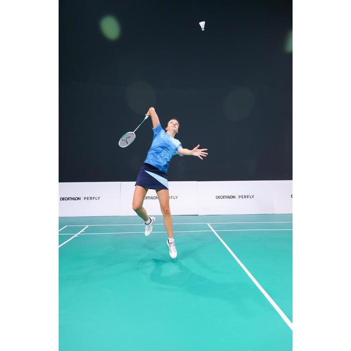 Badminton T-shirt voor dames 560 petrol/blauw