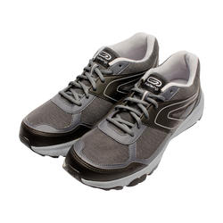 CHAUSSURE JOGGING HOMME RUN CUSHION GRIP GRIS NOIR