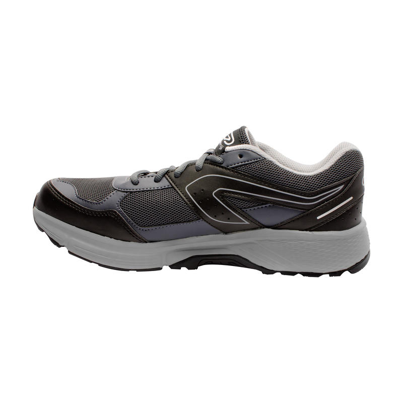 RUN CUSHION GRIP MEN'S RUNNING SHOES - GREY/BLACK