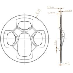 pedalier mono 38t alu noir axe carré 170mm
