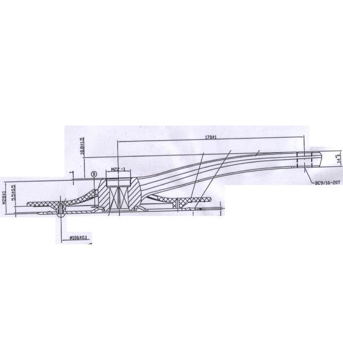 pedalier mono 36t 170mm alu noir