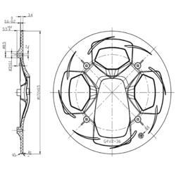Crankstel 1 kettingblad 36t 170 mm aluminium zwart