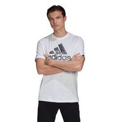T-shirt groot logo wit