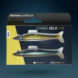 COMBO leurre souple shad lançon EELO 110 8gr NATURAL