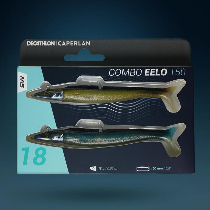 COMBO leurre souple shad lançon EELO 150 18gr NATUREL
