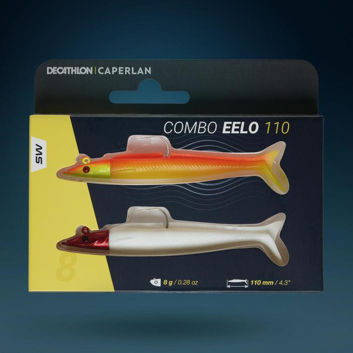 COMBO leurre souple shad lançon EELO 110 8gr FLASHY