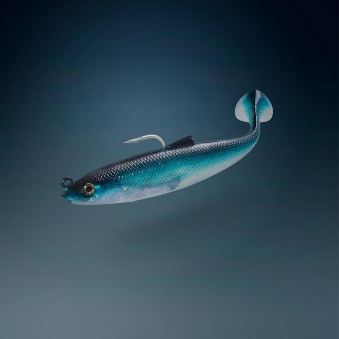 leurres souples pêche en mer Shad swimbait sardine OSARDA 80 NATURAL