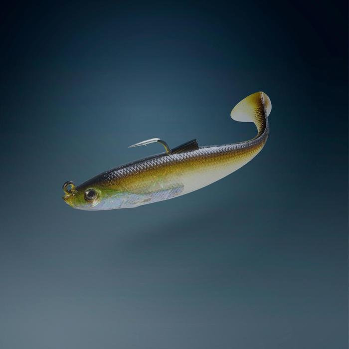 leurres souples pêche en mer Shad swimbait sardine OSARDA 80 FLASHY