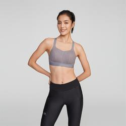 COMFORT RUNNING SPORTS BRA - MOTTLED GREY/PINK