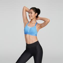 COMFORT RUNNING BRA - MOTTLED BLUE