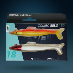 COMBO leurre souple shad lançon EELO 150 18gr FLASHY