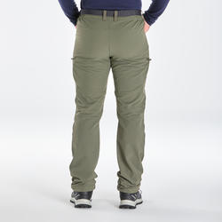 MEN'S SNOW HIKING WARM WATER REPELLENT STRETCH TROUSERS SH500 X-WARM