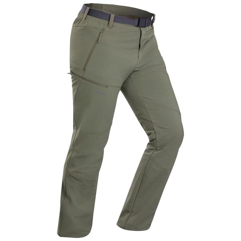 Spodnie turystyczne - SH500 x-Warm - stretch męskie