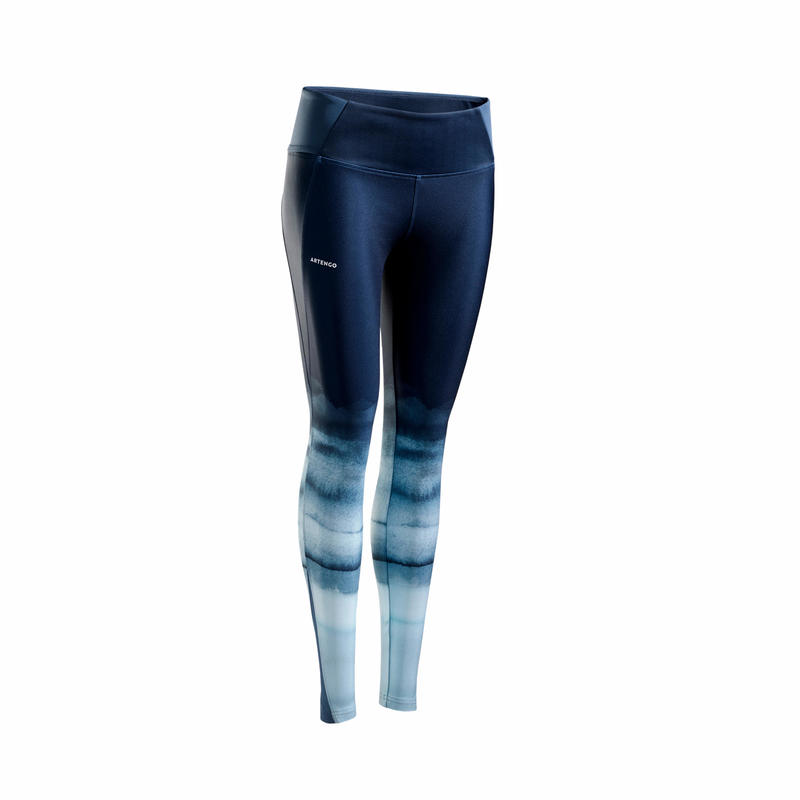 LEGGING DE TENNIS FEMME LEG TH 900 GRIS DEGRADE
