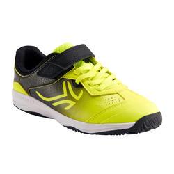 Tennisschuhe Kinder TS160 schwarz/gelb