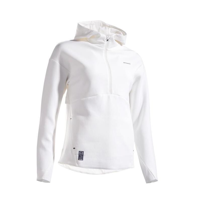 Tennissweater voor dames SW Dry 900 Off wit