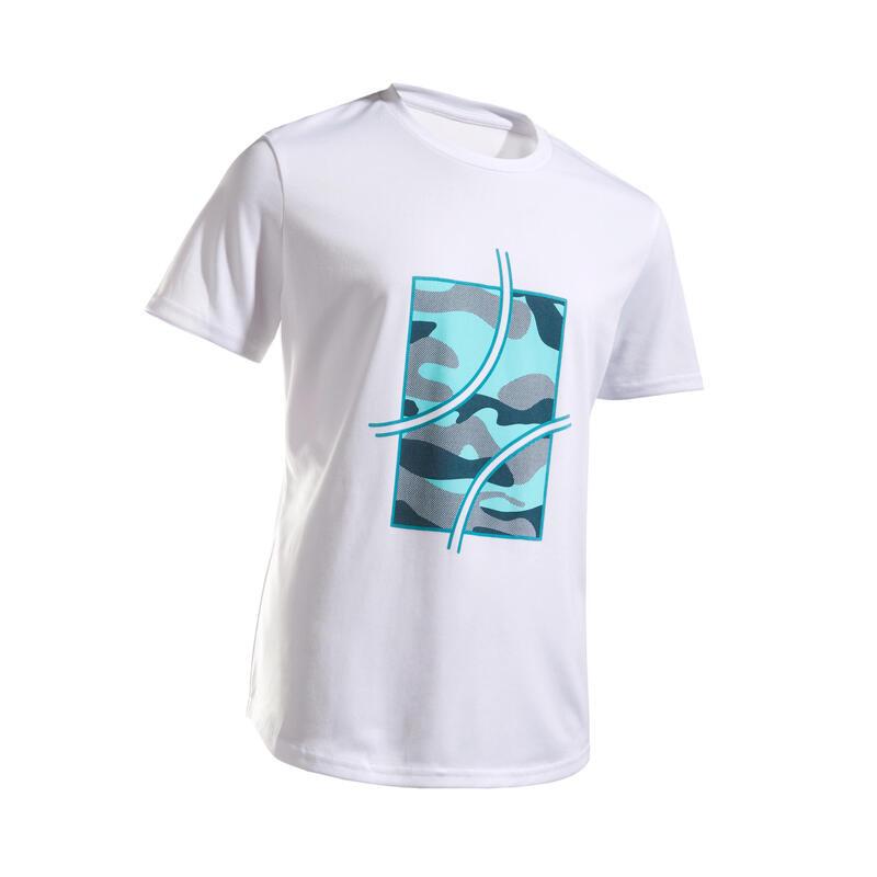 Tennis T-shirt voor kinderen TTS100 camo wit