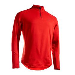 半拉鍊網球發熱衣TSW - 紅色