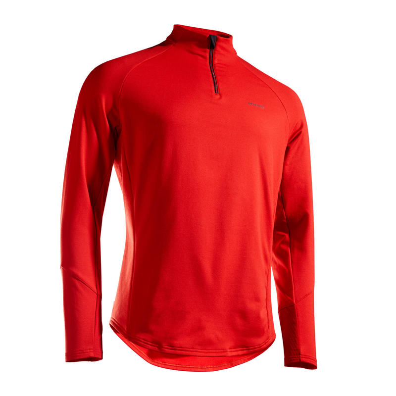 TEE SHIRT MANCHES LONGUES DE TENNIS TSW TH 1/2 ZIP ROUGE