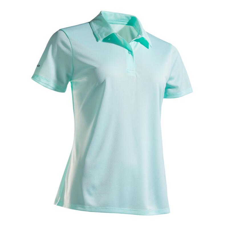 Polo tennis donna DRY 100 verde chiaro
