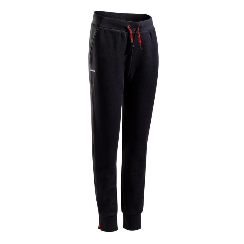 Pantaloni termici tennis bambino 500 neri