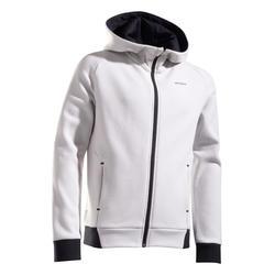 兒童款保暖網球外套 - 淺灰色