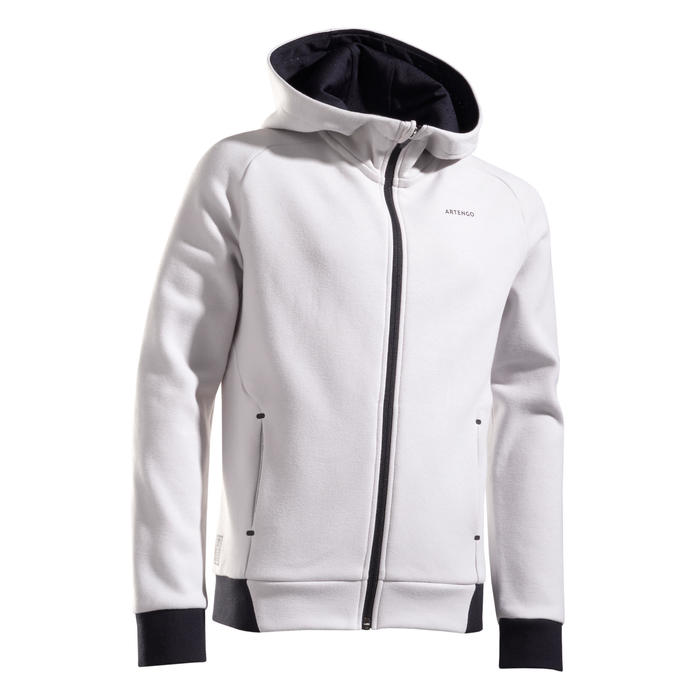 Kids' Thermal Tennis Jacket - Light Grey