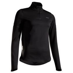 Tennis Langarmshirt Damen TH 900 schwarz