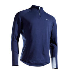 TEE SHIRT MANCHES LONGUES DE TENNIS TSW TH 1/2 ZIP MARINE BLEU
