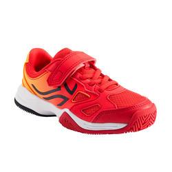 Tennisschuhe TS560 Turnschuhe mit Klettverschluss Kinder orange/rot