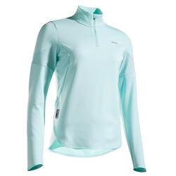Thermo tennisshirt met lange mouwen voor dames 900 mint