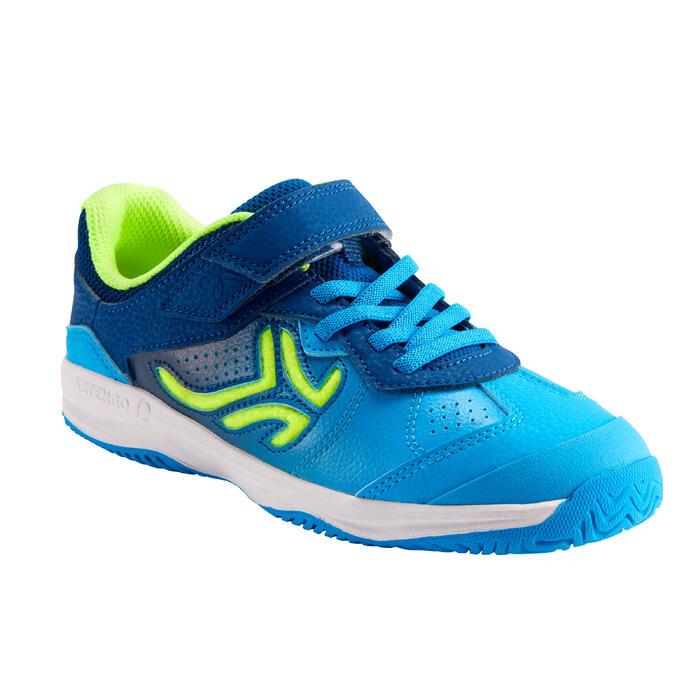 兒童款網球鞋TS160 - 藍色網球圖案