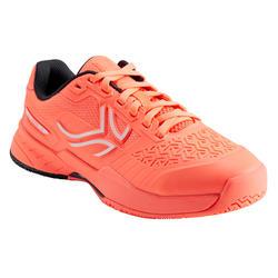 兒童款網球鞋TS990-珊瑚紅