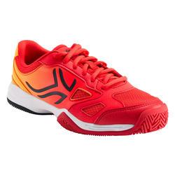 兒童款網球鞋TS560 JR - 橘紅配色
