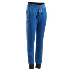 Pantaloni termici tennis bambino 500 azzurri