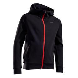 Thermo tennisjas voor jongens zwart