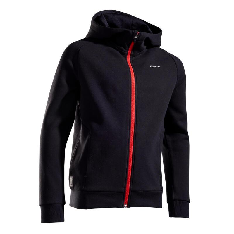 Veste thermique tennis Garçon noir