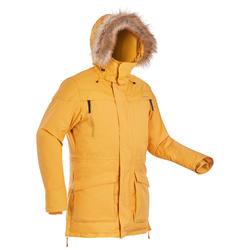 男款極致保暖雪地健行防水保暖連帽外套SH500