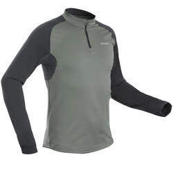 Men's warm long-sleeved hiking T-Shirt - SH100 WARM.